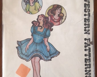 Authentic Sewing Pattern 260 Square Dance Dress - size 16