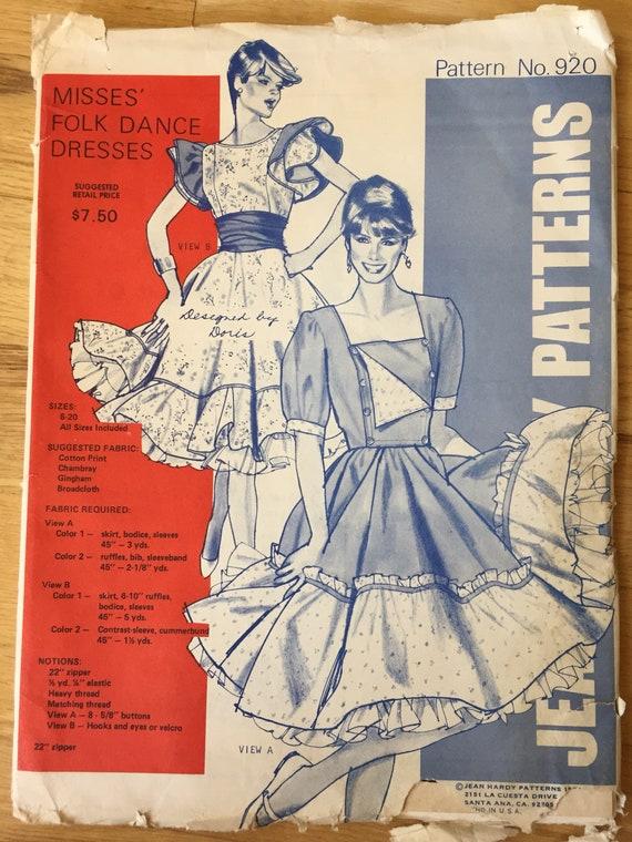 Jean Hardy Nähen Muster 920 Platz Volkstanz Kleid | Etsy