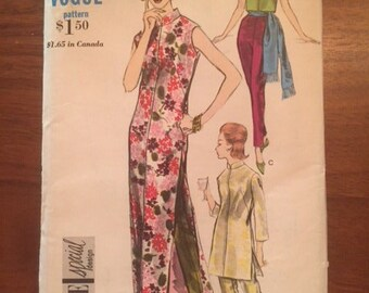 Vintage 60s Vogue 5866 Dress, Tunic and Pants - size 10