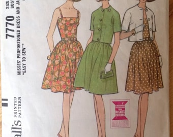 Vintage McCall's 7770 Dress and Jacket size 14