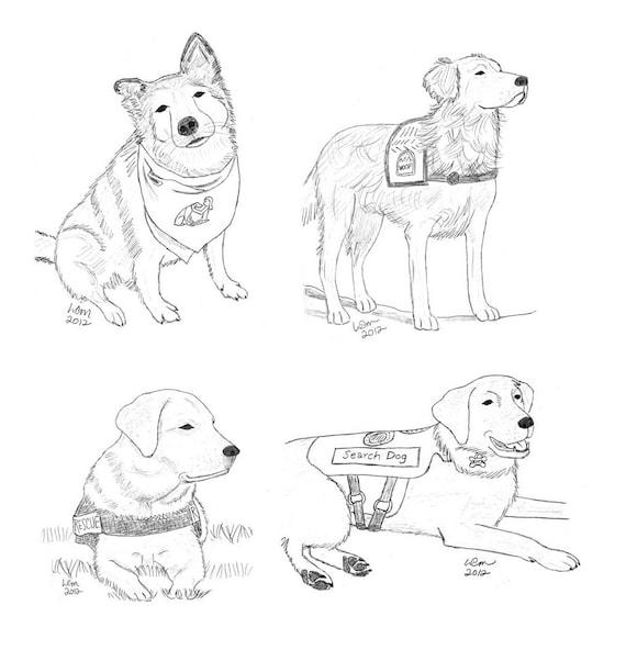 Service Dog Notecards