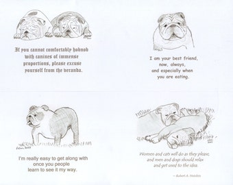 Bulldog Notecards (3)