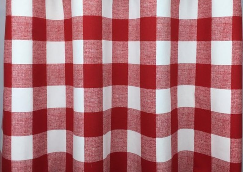 French pleated drapes Buffalo check denim blue buffalo plaid pleated window curtains red, French grey cotton fabric Yellow black