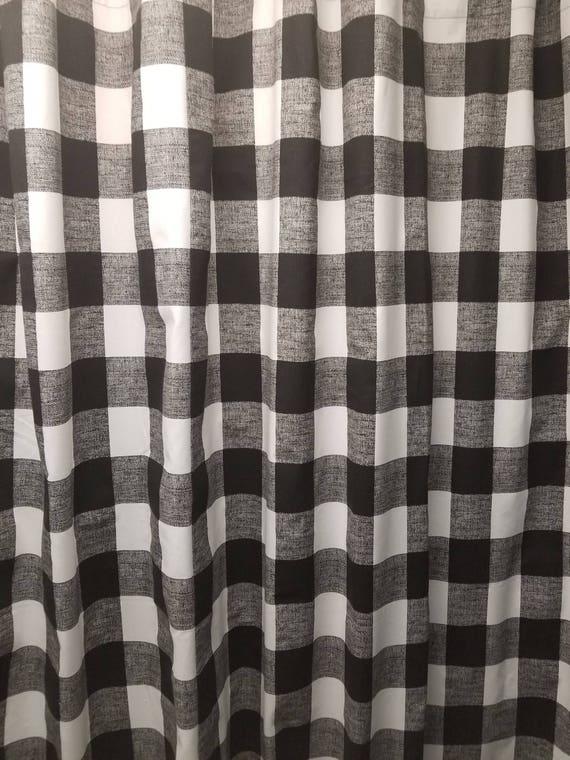 Custom Made Fabric Shower Curtain Anderson Buffalo Plaid