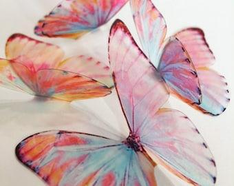 NEW SET Unicorn wings - Lavender butterflies - 3D acetate butterfly - purple lilac butterfly - wall art butterfly - butterfly wall decor