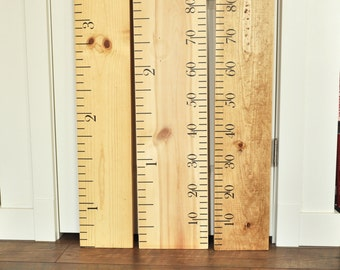 Ruler Growth Chart Kit- DIY Project - Oversized Wood Ruler Growth Chart Kit -