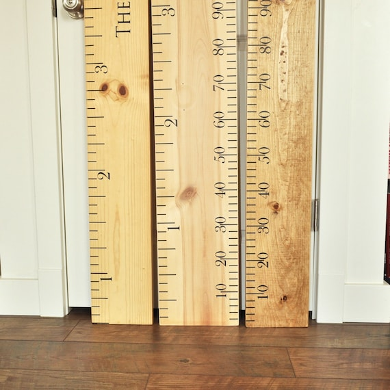 ruler growth chart kit diy project oversized wood ruler etsy. Black Bedroom Furniture Sets. Home Design Ideas