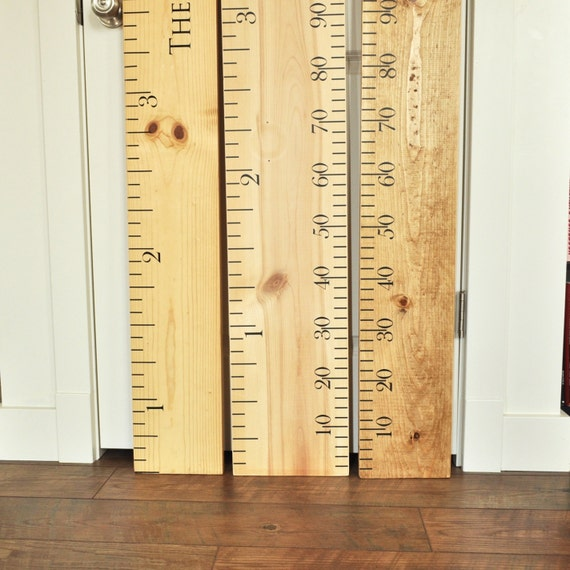 Ruler growth chart kit diy project oversized wood ruler etsy