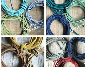 LEATHER Cord Suede LACE