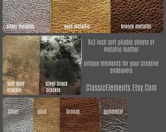 Choice of 9X3 Leather, leather trim, metallic leather, sheet leather, leather goods, leather, silver leather, metallic leathers
