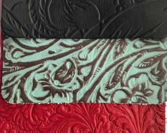 Embossed 9X3 Leather, leather trim, embossed leather, sheet leather, leather goods, leather, red leather,  embossed leathers, earrings