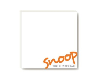 POSTIT in writing - snoop this is personal (sticky notes)