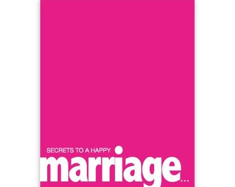 HAPPYwife (wedding card)