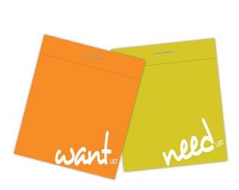 D-LIST (set of 2 matchbook notepads)