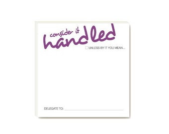 POSTIT in writing - HANDLEDmaybe (sticky notes)