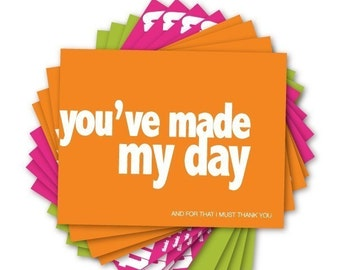 post a CREDIT (set of 12 thank you postcards)