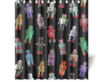 Popular Items For Robot Shower Curtain