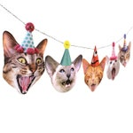 Cats Birthday Garland - photo reproductions on heavy card stock - funny cat portraits birthday banner