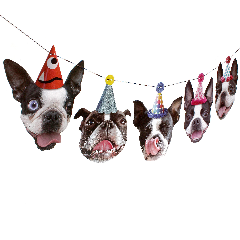 Boston Terrier Dog Birthday Garland Party Decoration For Etsy Jpg 3000x3000 Happy Cake
