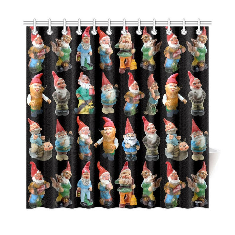 Vintage Garden Gnomes Shower Curtain High Res Photos On Novelty