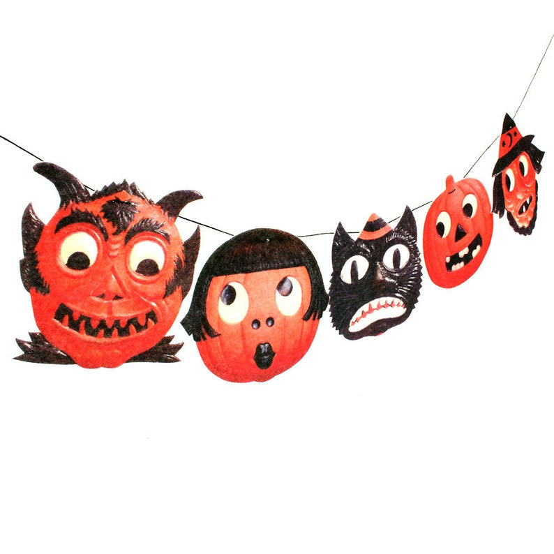 Vintage Halloween Garland Vintage German Diecut Reproductions Etsy