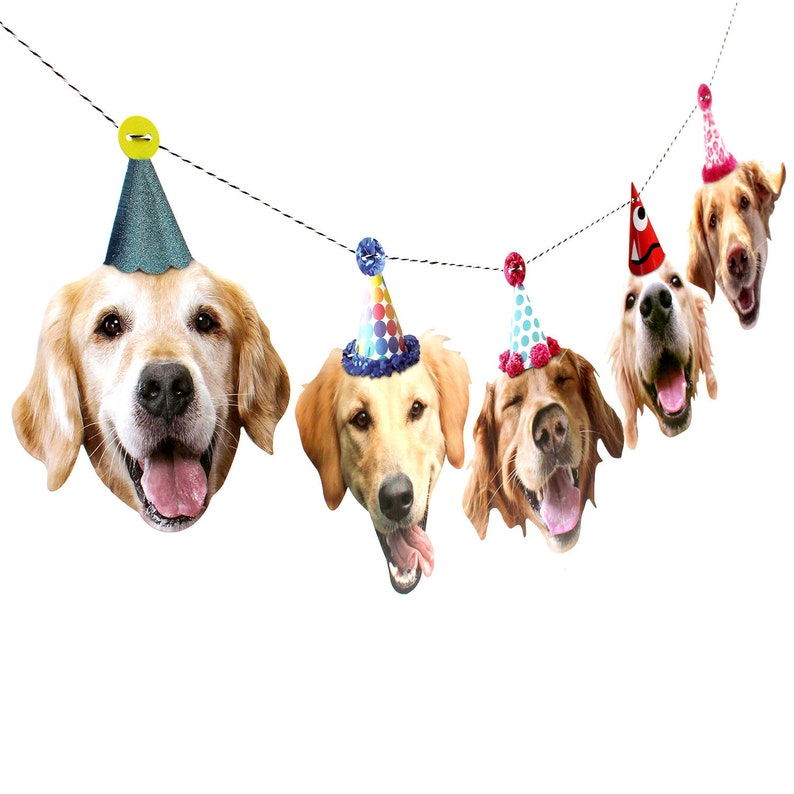 Gifts For Golden Retriever Owners - Golden Retriever Birthday Party Garland.