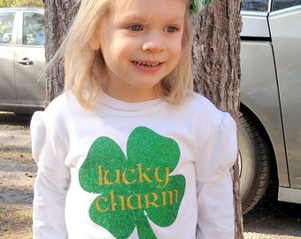 Lucky Charm/ St. Patrick's Day Shirt/ Toddler St. Patrick's Day/ Toddler Shirt/ St Pattys Day/ Clover/ Green/ March Holiday/ Kid's Shirt