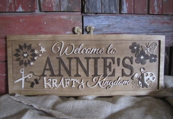Personalized Name Sign Craft Room Sign Sewing Quilting Etsy
