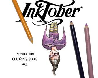 PDF - Inspiration Coloring Book #1 - Inktober