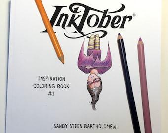 Inspiration Coloring Book #1 - Inktober
