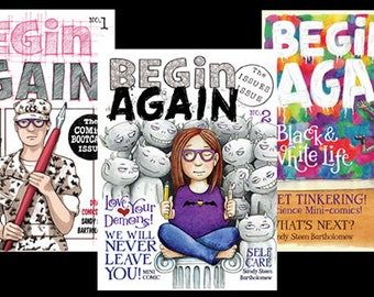 BEGIN AGAIN - downloadable Comic Magazine (set of 4 issues) PDF