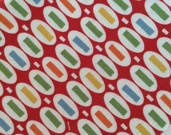 Peas & Carrots Red American Jane for Moda Fat Quarter Quilt Fabric Sewing Fabric Retro Fabric