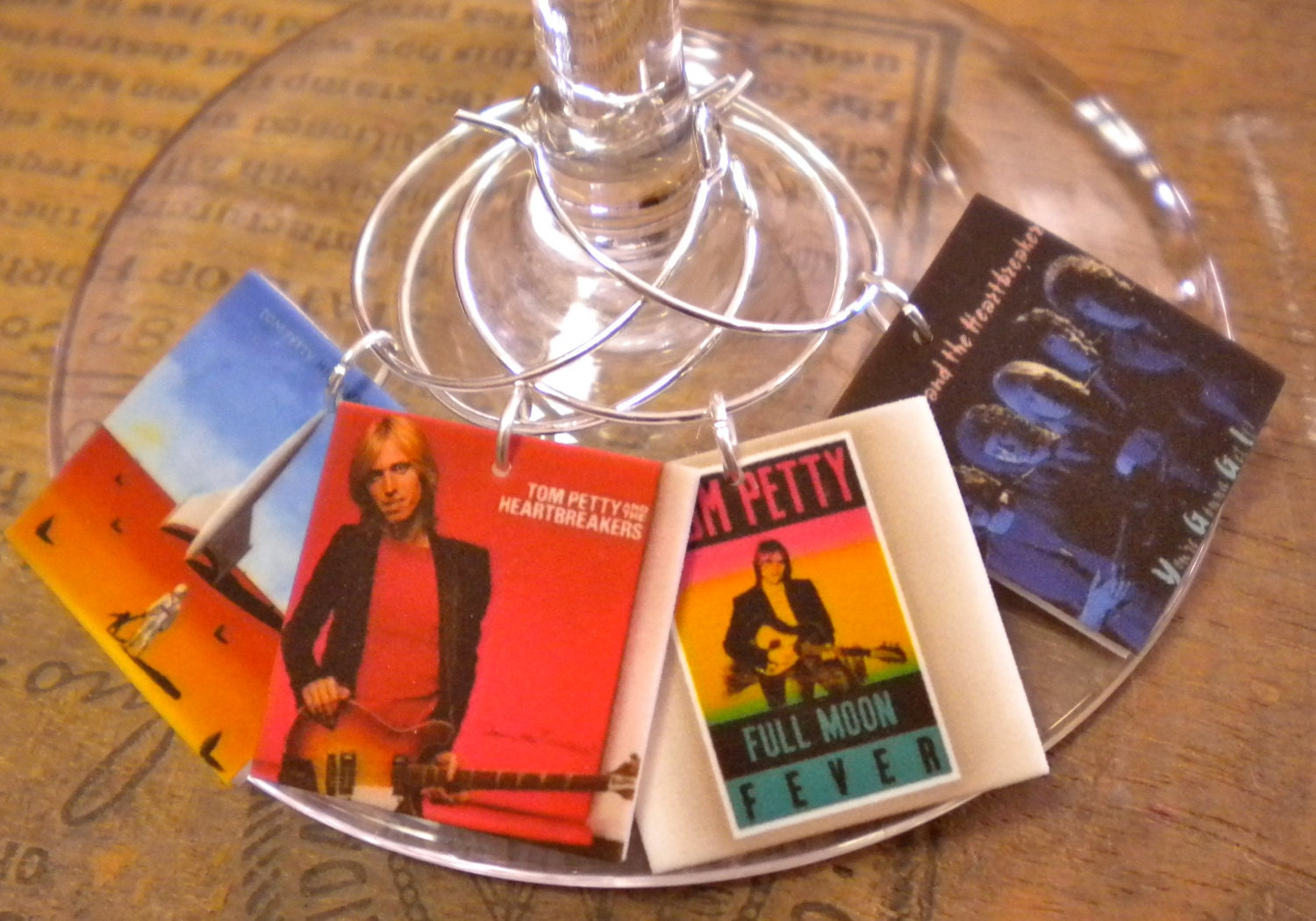 Tom Petty & Heartbreakers Album Cover Wine Charms for the   Etsy