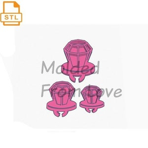Kawaii candy Shape with Heart Shaker STL File For 3-D Printing File Only Not the Pieces