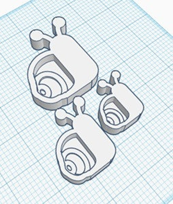 Santa Face Shaker STL File For 3-D Printing File Only Not the Pieces Kawaii  MRS