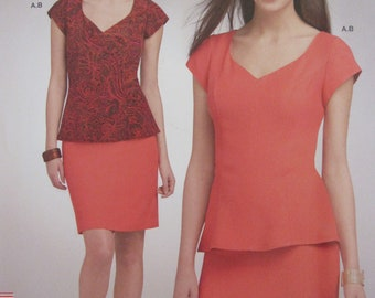 Simplicity 1051, Uncut Sewing Pattern,Misses Easy Sew Tunic and Skirt, Size 10 - 18, 2015