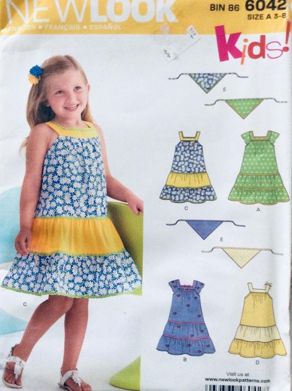 SIMPLICITY PATTERN DRESS TOP SHORTS PURSE DOLL DRESS GIRLS/' SIZE 3-8  # 1172
