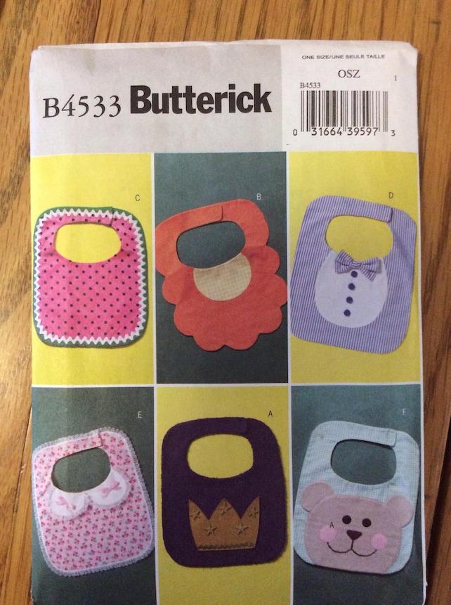 Baby Bibs Six Designs Uncut Craft Sewing Pattern Butterick | Etsy