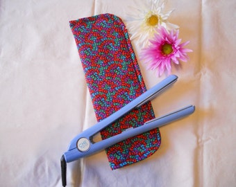 Hair Straightener/Curling Iron Heat-Resistant Cover - Colorful Bows