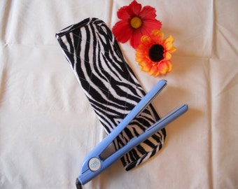 Hair Straightener/Curling Iron Heat-Resistant Cover - Zebra