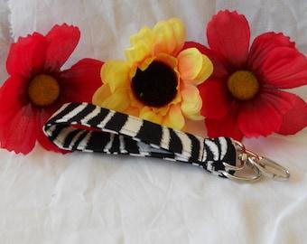 Keychain Wristlet - Zebra