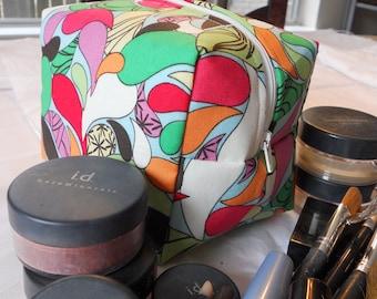 Makeup Bag - Bright Multi-Colored Raindrops