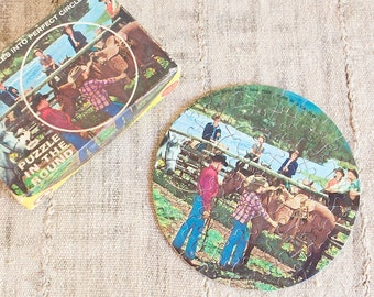 Vintage Puzzle in the Round by Jaymar-Western Dude Ranch, Over 60 Pieces
