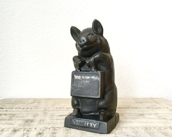 Vintage Cast Iron Pig Bank by Hubley