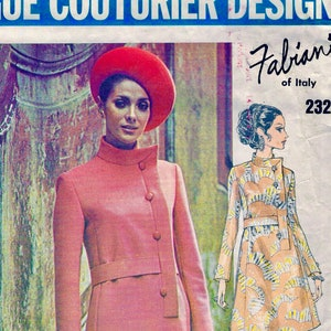 d56c395f990 UNCUT   VOGUE Couturier Designer Pattern 2325 - Fabiani of Italy -  GLAMOROUS Asymmetrical Evening Dress   size 12   bust 34