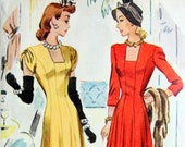 RARE * UNCUT * Vintage McCall Pattern 4548 / BEAUTIFUL Misses' Evening Length Draped Dress in 2 Lengths  / size 12 bust 30