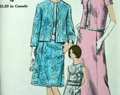 1950s VOGUE special design sewing Pattern 6932 Evening Gown or Dress and Jacket UNCUT size 33 bust