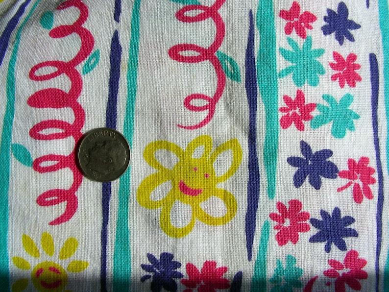 Vintage Feedsack FEED Sack Cotton Fabric 36 x 42 STILLaSack NOVELTY Yellow Sunshine Smiling at You