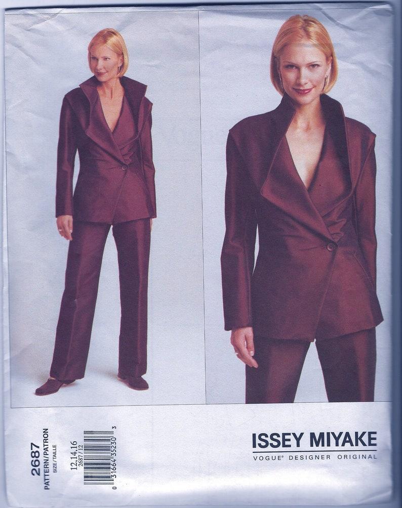 Issey Miyake Designer Vogue Pattern 2687   Misses/'  Japanese Fashion GLAM Evening Jacket /& Pants   Sizes 12 14 16 UNCUT