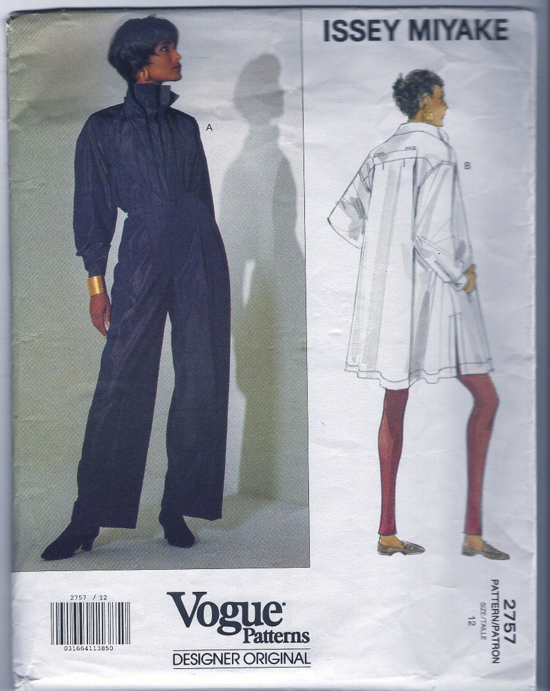 UNCUT *ISSEY MIYAKE Designer Vogue Pattern 2757   Misses/'  Japanese Fashion Top and  Wide Legged  Pants   Size 12 Bust 34